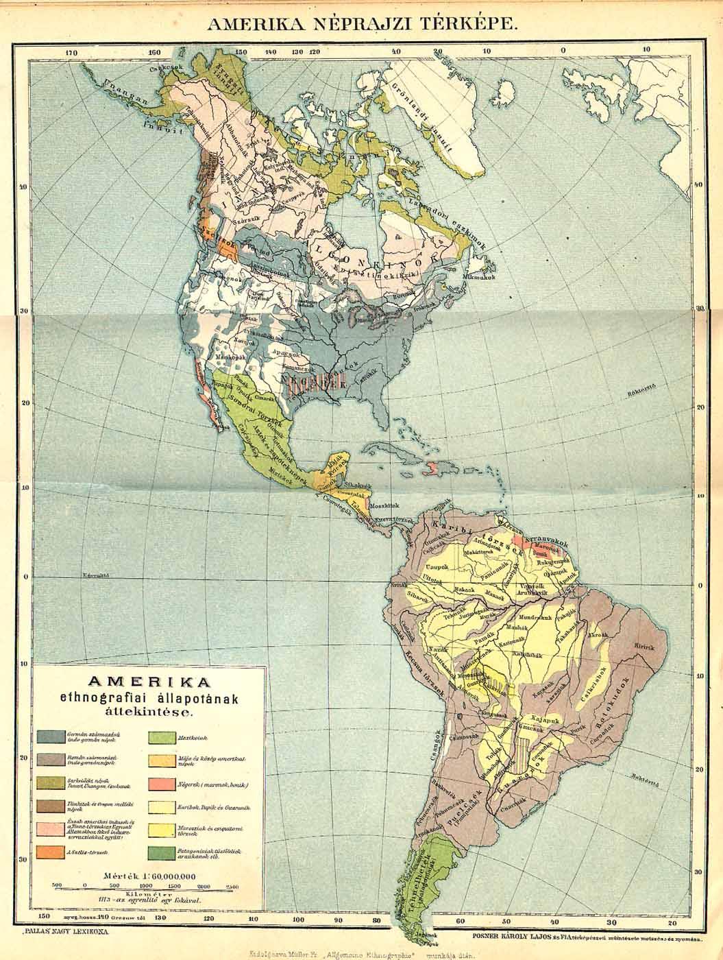 észak és dél amerika térkép A Pallas nagy lexikona észak és dél amerika térkép