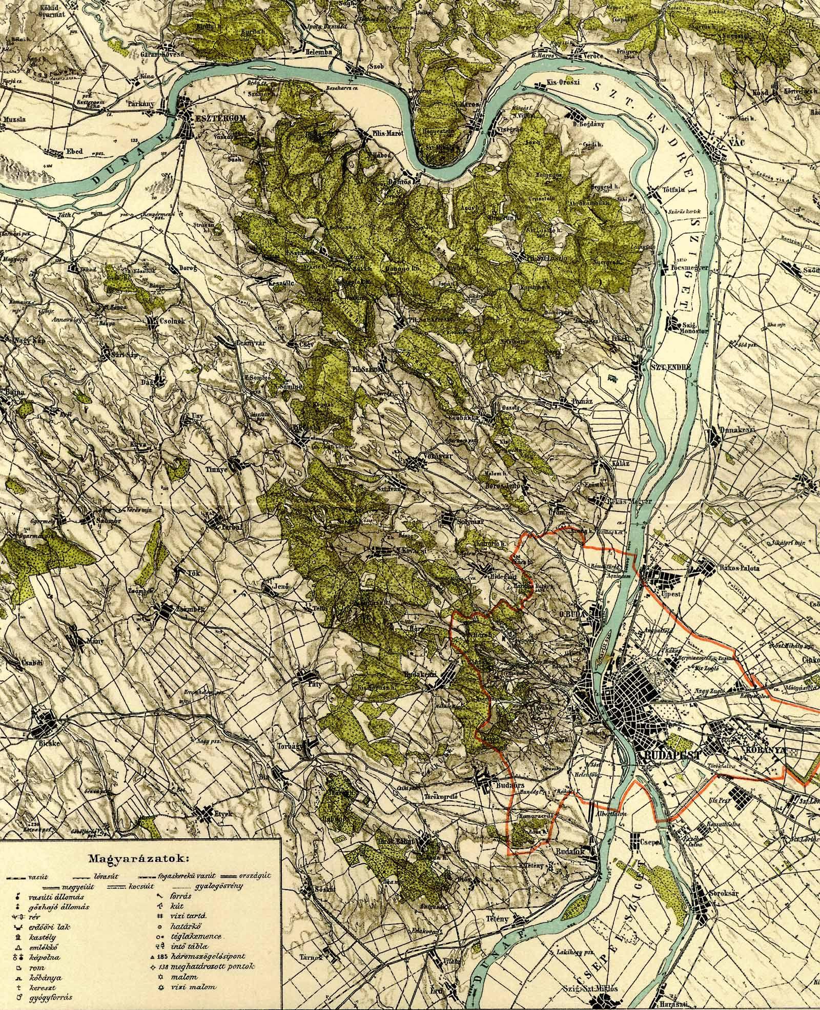 budapest domborzati térkép A Pallas nagy lexikona budapest domborzati térkép