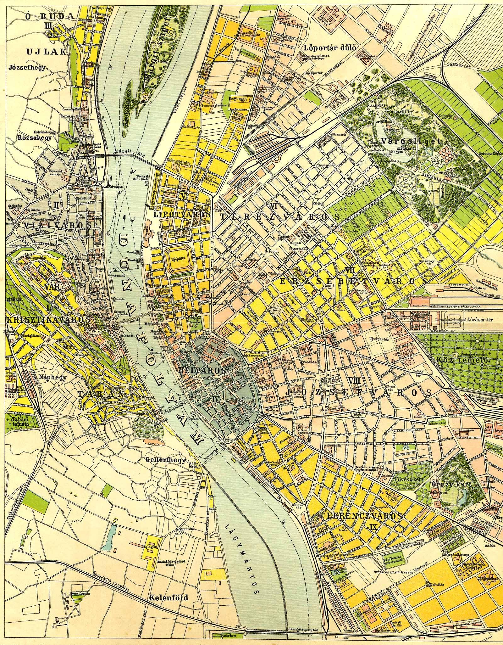 budapest térkép soroksár A Pallas nagy lexikona budapest térkép soroksár