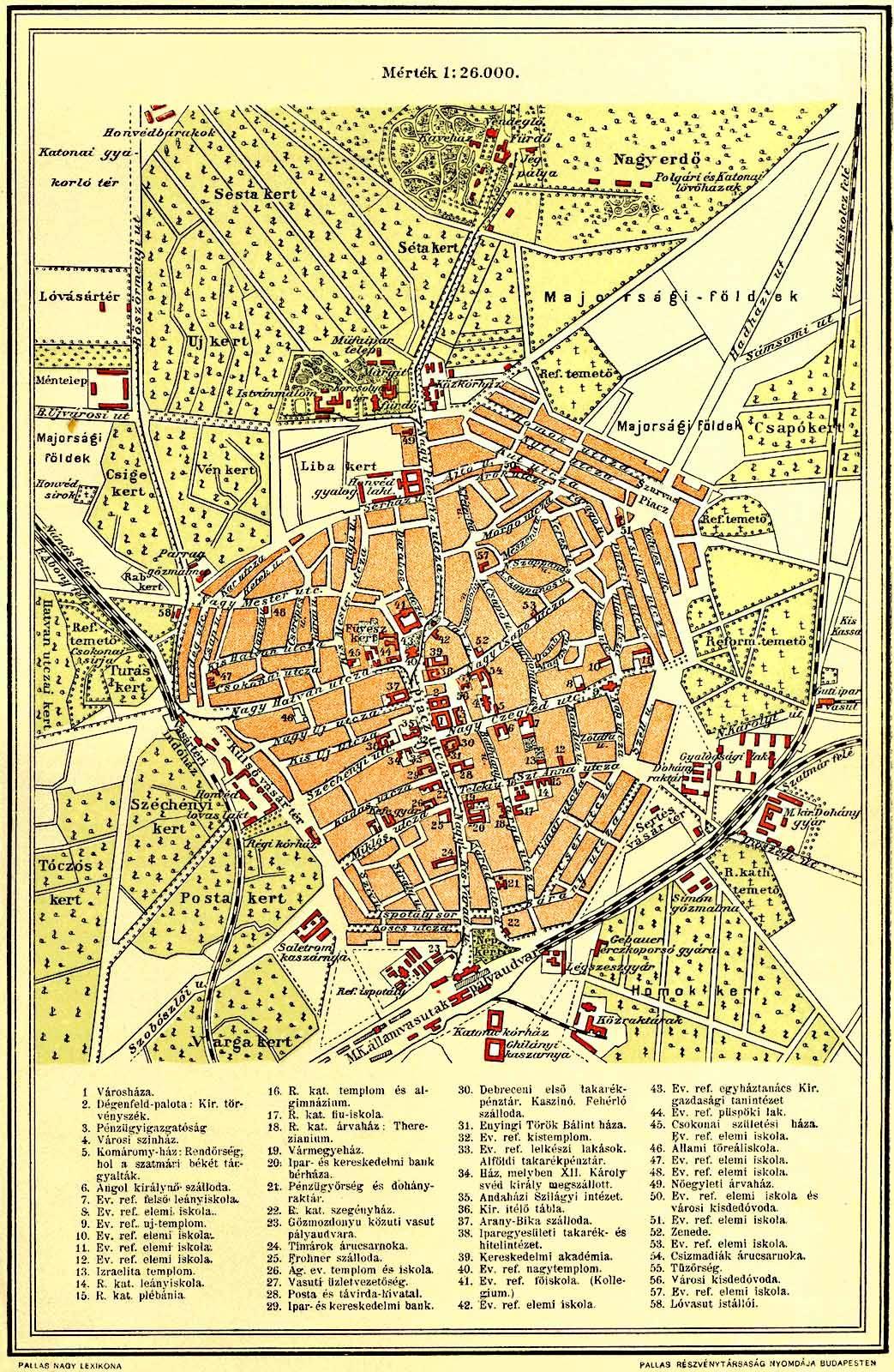 debrecen régi térkép DEBRECEN TÉRKÉPEK | Múltunk Tára   TFSZ debrecen régi térkép