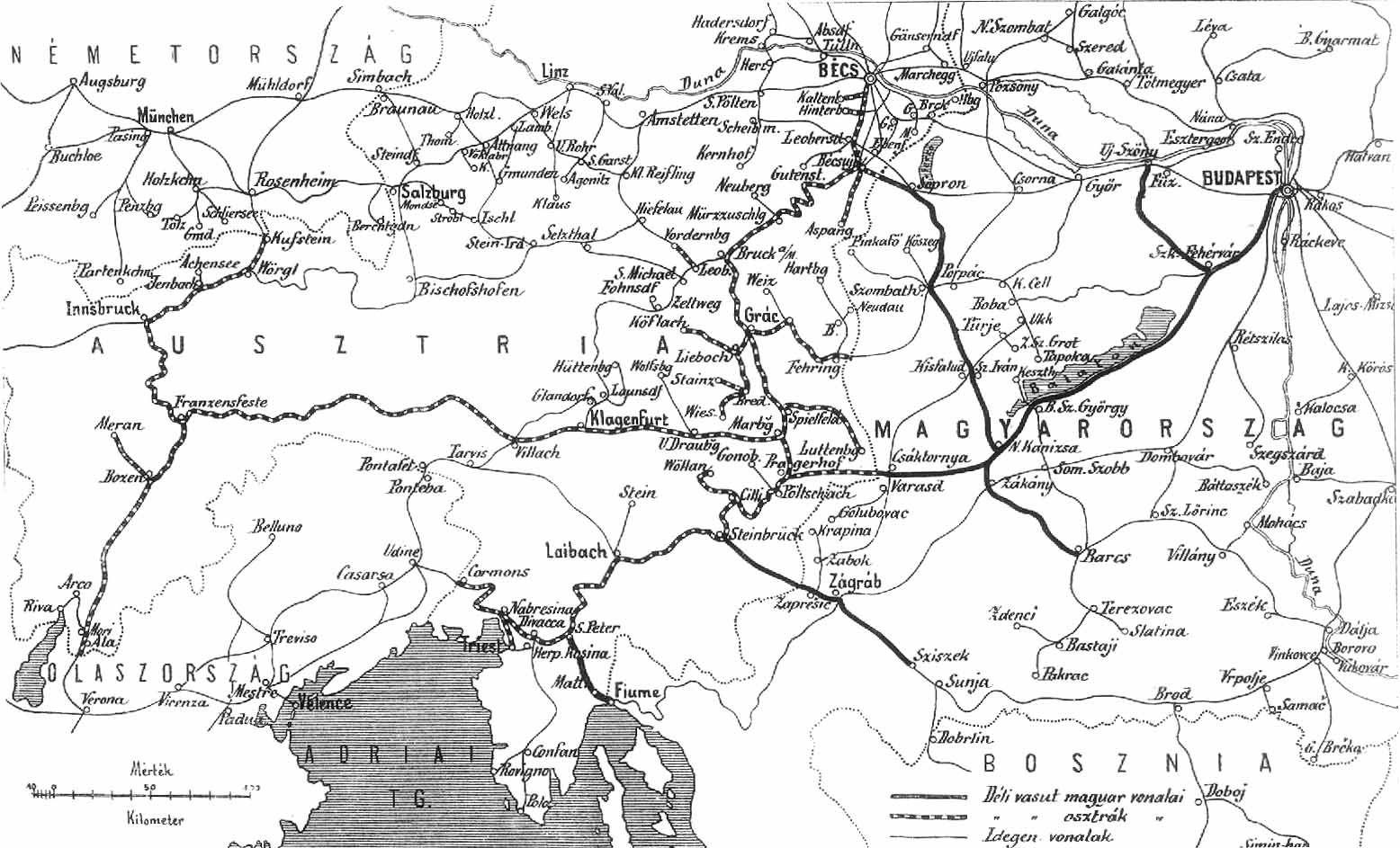 vasúti térkép ausztria 109 sor. gőzmozdony vasúti térkép ausztria