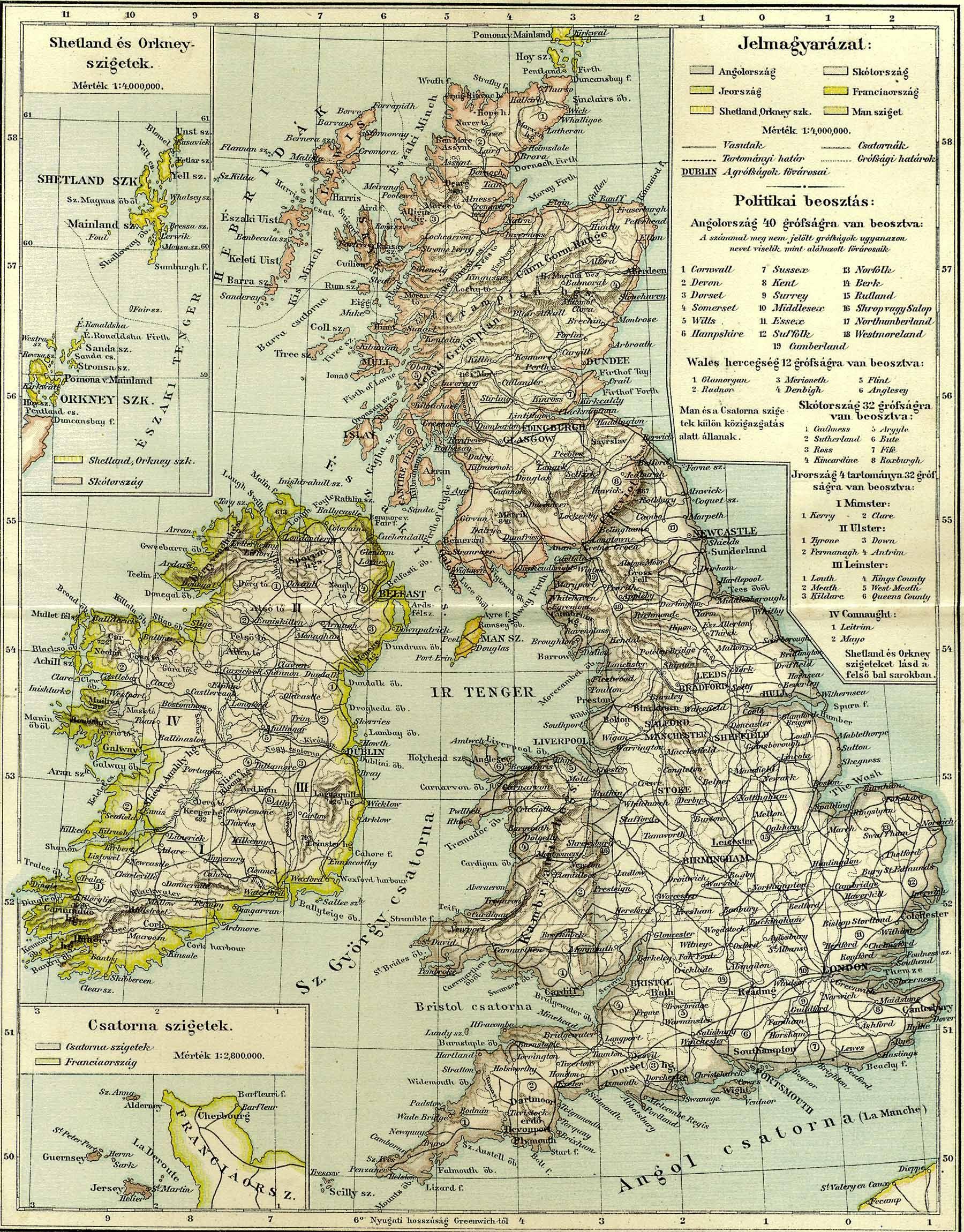 anglia részletes térkép A Pallas nagy lexikona anglia részletes térkép
