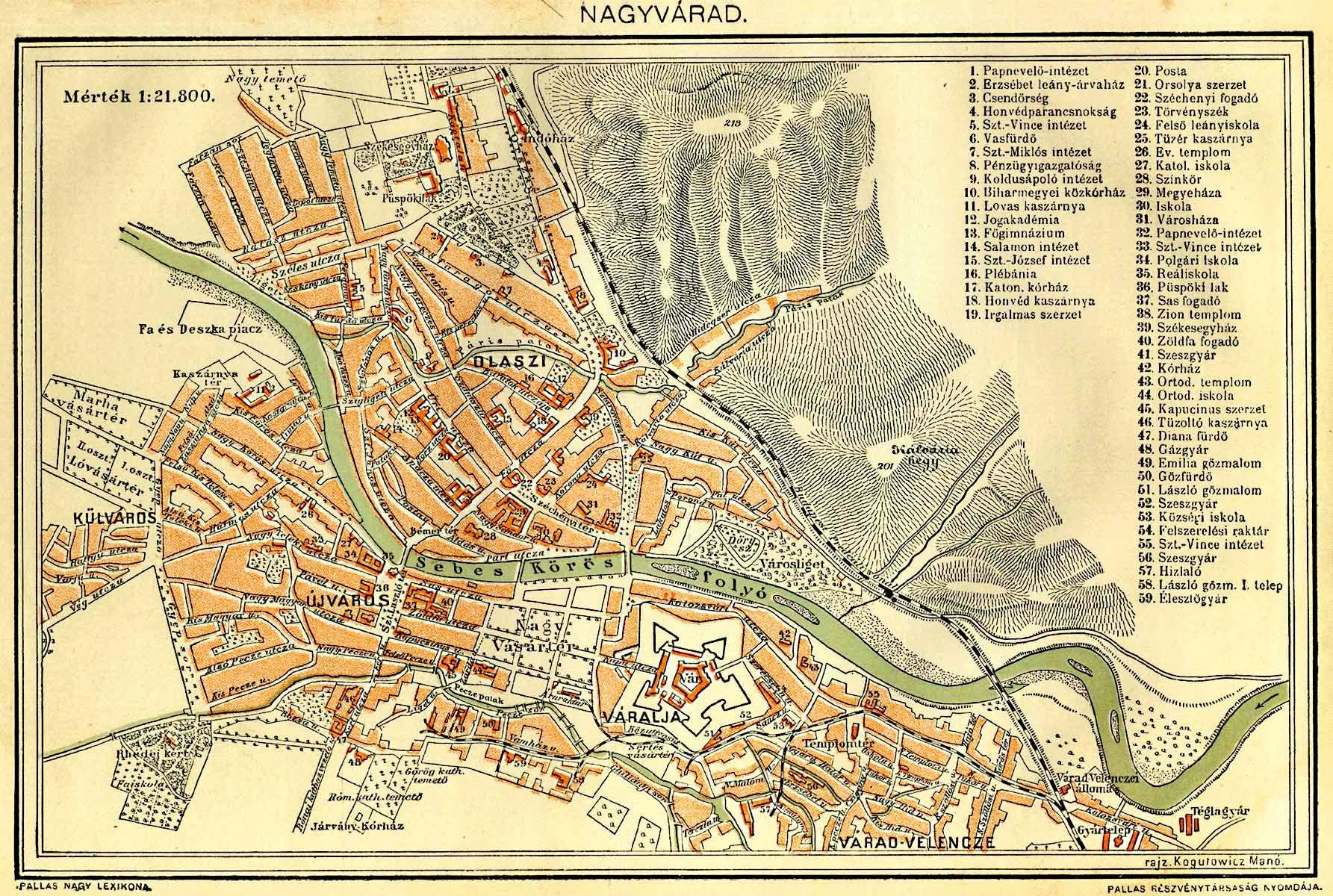 nagyvárad térkép Nagyvárad Velence   Magyarország vasútállomásai és vasúti  nagyvárad térkép