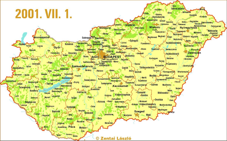 térkép hu magyarország Zentai László: Magyarország térképe [Magyar Elektronikus Könyvtár  térkép hu magyarország