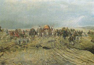A magyar szekerek bevonulása (részlet)