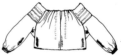 8001cafefe Mellé varrott ujjú ing (Bukovinai székely terület) Bp. Néprajzi Múzeum