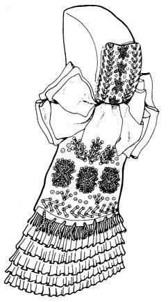 """Kapuvári viselet """"Pillangós kobak""""   női főkötő b3ddbb875d"""