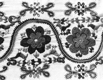 c8453c0550 Lepedővég részlete, színes gyapjúfonállal hímezve (Szentistván,  Borsod-Abaúj-Zemplén m.