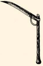 A csíkászok vágószerszáma: kaszur (Ecsedi-láp)