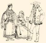 Torockói népviselet (1854-ben készült metszet nyomán)