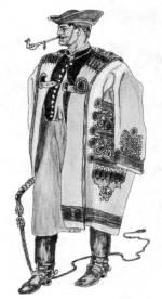 Hortobágyi csikós cifraszűrben (Hajdú-Bihar m., 20. sz. eleje)