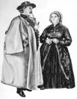 Középkorú pár ünneplőben (Öcsöd, Szolnok m., 1850-es évek)