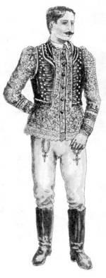 Fiatal férfi untercikkben (Kalocsa. Bács-Kiskun m., 20. sz. eleje)
