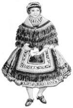Fiatalasszony parittya-főkötővel (Sárköz, Tolna m., 20. sz. eleje)