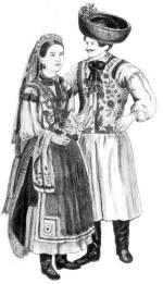Leány és legény ünneplőben (Kalotaszeg, 1854)