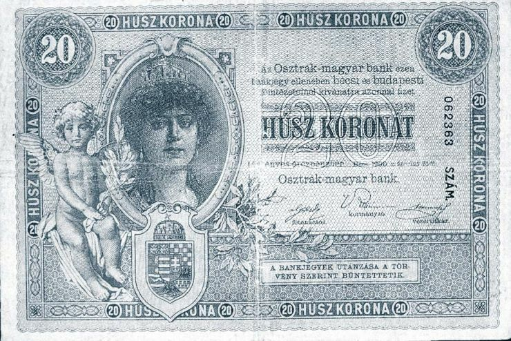 901b729b3f Az osztrák értékű forintról a koronára való átállás az ezüst egy forintos  kivételével (ez 1927-ig forgalomban maradt) 1910-ben zárult le.