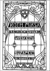 Róth Miksa üvegfestő céghirdető kártyája