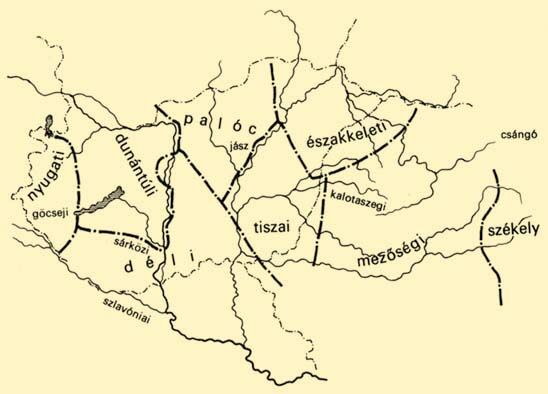 nyelvjárások térkép Balassa–Ortutay: Magyar néprajz / A magyar nyelvjárások