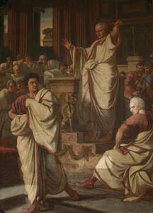 Than Mór: Ciceró támadó beszédet intéz Catilina ellen (1875)Nagyítható kép