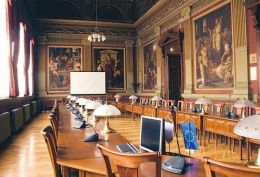 A Budapesti Gazdasági Főiskola Lotz Terme(Kép: Gotthárdi Balázs)Nagyítható kép