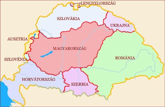 magyarország szomszédos országai térkép HALASSY BÉLA: MIÉRT ÉPPEN EZ A TRIANON? magyarország szomszédos országai térkép