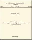 Hlavacska Edit: Névtani tárgyú kéziratok a KLTE Magyar Nyelvtudományi Intézetének Könyvtárában