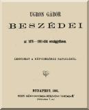 Ugron Gábor: Ugron Gábor beszédei az 1878-1881-diki országgyűlésen
