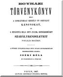 Egyházi törvénykönyv, mely a Komjáthiban készült öt osztályú kánonokot, és a Dunántúli Helv. Hitv. Evang. Egyházkerület szabályrendeleteit foglalja magában