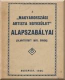 A Magyarországi Artista Egyesület alapszabályai 1930